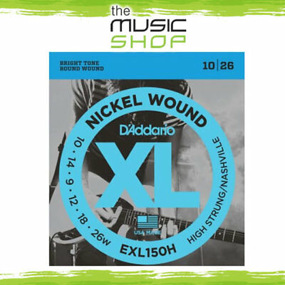 Set D'Addario EXL150H 10-26 Nickel Wound Electric Guitar Strings - High Strung • 6.84£