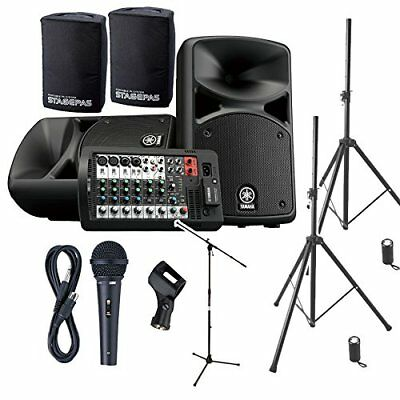 YAMAHA STAGEPAS 400 BT (with Cover) Event Hosting ? Speaker Set For Playing Back • 981.05£