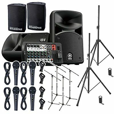 YAMAHA STAGEPAS 400 BT (with Cover) Band Practice ? Speaker Set For Mini Live • 1,107.64£