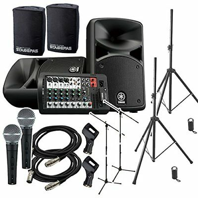 YAMAHA STAGEPAS 400 BT (with Cover) Event Host ? Speaker Set For Mini Concert • 1,297.52£