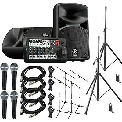 YAMAHA STAGEPAS 400 BT Band Practice ? Mini Live Speaker Set �ySHURE SM 58 Mike • 1,550.69£