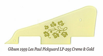 Les Paul LP-295 1959 Cream Floral Pickguard made for Gibson Epiphone Project NEW