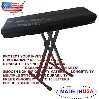 Roland Vr-730 73keys Keyboard Custom Fit Dust Cover + Embroidery ! Made In Usa • 23.51£
