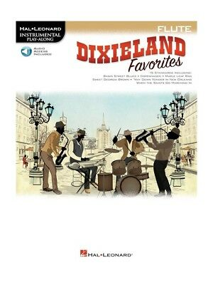Play-Along Dixieland Favorites Flute Learn To Play MUSIC BOOK & Online Audio • 11.99£