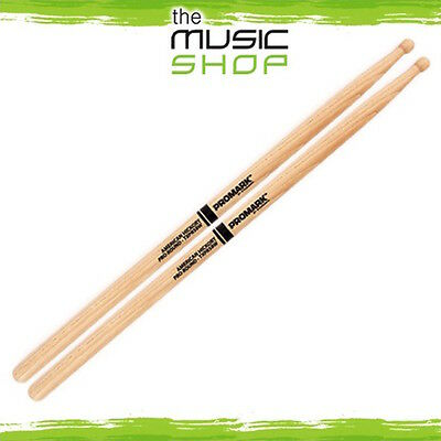 New Set of Promark Hickory 5B Pro-Round Drumsticks with Wood Tips - TXPR5BW