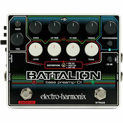 New Electro-Harmonix BATTALION Bass Preamp And DI Effects Pedal • 112.46£