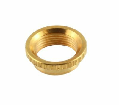 Gold Deep Thread Round Nut For Switchcraft Metric Toggle Switches • 4.74£