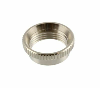 Nickel Deep Thread Round Nut For Switchcraft Metric Toggle Switches • 4.95£