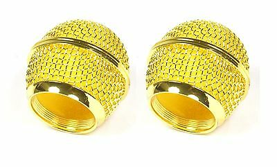 2 Pack Mesh Grill Screen Replacement For Shure SM58 SM58LC Gold Color Ball  • 9.89£