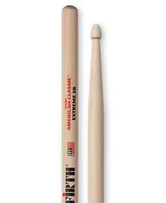 Vic Firth 5B extreme wood tipped  drum sticks. American hickory.