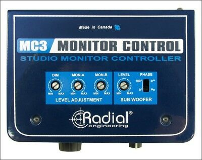 Radial Engineering MC3 Passive Monitor Controller W/Subwoofer Headphone Outputs • 177.27£