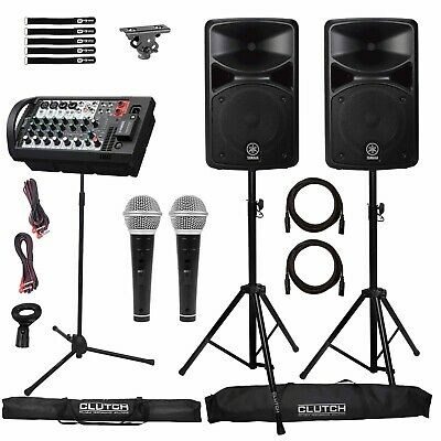 Yamaha STAGEPAS 400BT Portable Bluetooth PA DJ Speaker System W Mixer Package • 589.05£