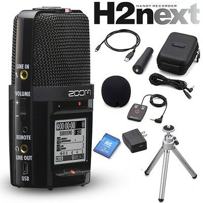 Zoom H2n Handy Recorder + APH-2n Accessory Pack Set H2next New F/S • 188.67£