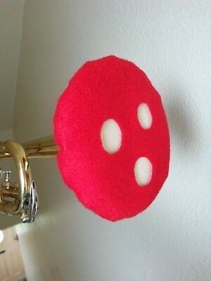 Trumpet Felt Mute Vented Double Thickness Red w/ Ivory Lining matches Humes Berg