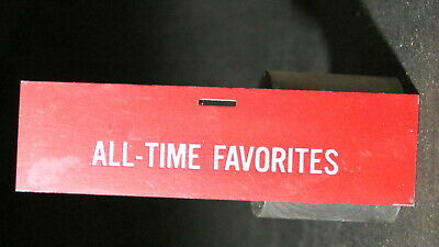 Seeburg All-Time Favorites Plastic Strip For Juke Box 4 Inches Long X 1 1/16 Wid • 9.28£