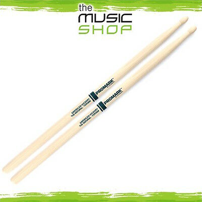 New Set of Promark Hickory 5B 'The Natural' Drumsticks with Wood Tips - TXR5BW