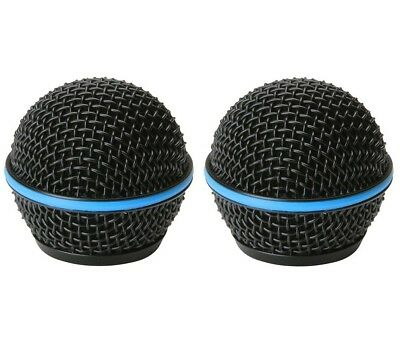 2 Pack Replacement Mesh Microphone Grille For Shure SM58 565SD LC SV100 Black • 8.84£