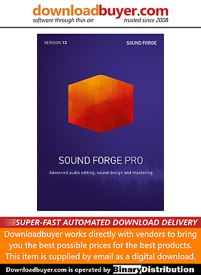 MAGIX Sound Forge Pro 13 - [Download] • 254.99£