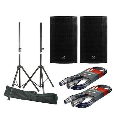 2x Mackie Thump 15A V4 & Stands & Cables QTX Stagg 2600W PA Loudspeakers Tripods • 549£