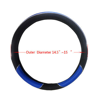 14.5  -15  Universal Size Steering Wheel Cover For SUV Truck Van SW_Blue • 11.34£