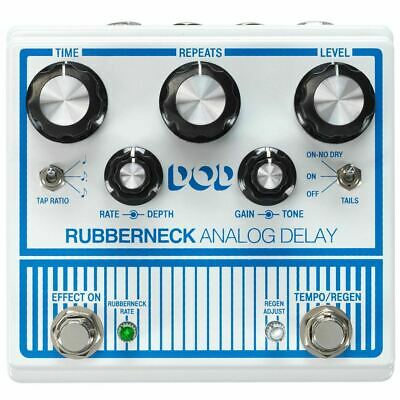 DigiTech DOD Rubberneck Double-Wide Analog Delay Effects Pedal W/ Tap Tempo • 173.65£