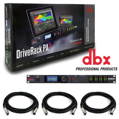 DBX DriveRack PA 2 X 6 PA Management Processor With Display & US. W/ 3 XLR Cable • 330.61£