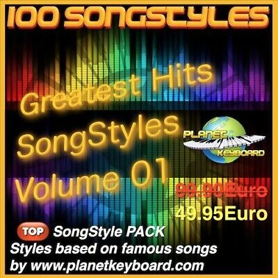 Yamaha PSR PSR-SX900 PSR-SX700 PSR-SX600 Styles GREATEST HITS SONGSTYLES VOL 01 • 53.29£