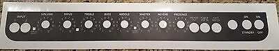 Fender Blues Deluxe Ri Control Panel Overlay Black W/ White Letters
