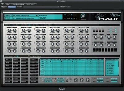 New Rob Papen Punch Mac PC Synthesized Drums VST RTAS AU Plug-in eDelivery