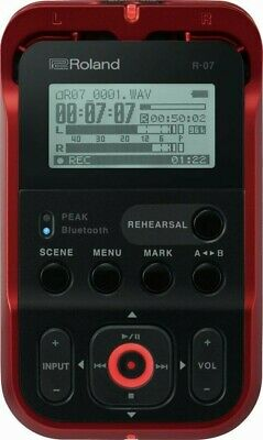Roland Hi-Res Audio Recorder R-07-RD Red Linear PCM Recorder New In Box 49570545 • 264.23£