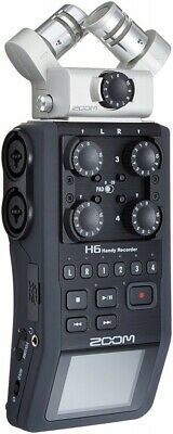 ZOOM H6 Handy Recorder Interchangeable Microphone Linear PCM 884354012175