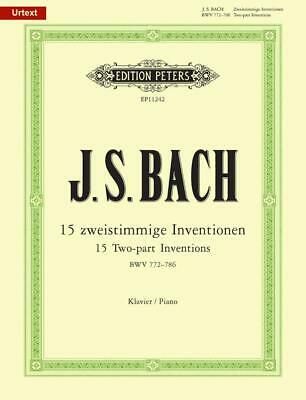 15 Two-Part Inventions  Piano Johann Sebastian Bach Book Only EP11242