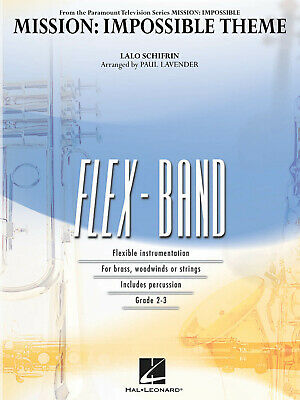 Mission: Impossible Theme  5-Part Flexible Band And Opt. Strings Lalo Schifrin S • 49.99£