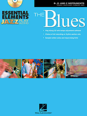 Essential Elements Jazz Play Along - The Blues  Flute, Violin, Guitar, Clarinet, • 12.50£