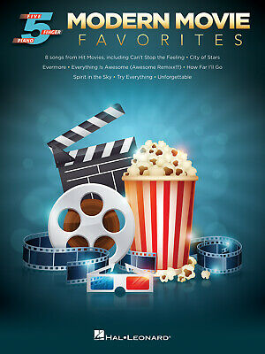 Modern Movie Favorites Five Finger Piano Songbook Piano  Book Only HL00242674