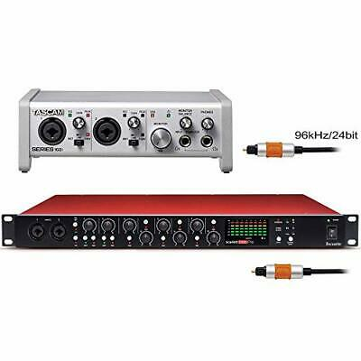 Focusrite Microphone Preamplifier Scarlett OctoPre + TASCAM Series102i With Audi • 909.66£