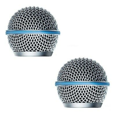 2 Pack Microphone Grille For Shure BETA58 BETA58A SM 58 SM58S SM58LC Windscreen • 6.08£