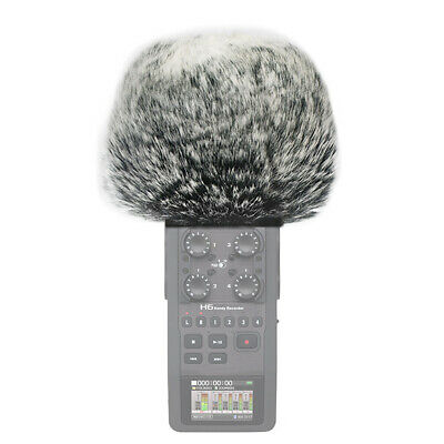 Furry Microphone Mic Windscreen Wind Muff Compatible With Zoom H6 • 8.49£
