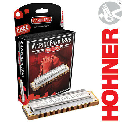 Hohner Marine Band Classic 1896 Diatonic Harmonica In All Keys W/ Case + Lessons • 35.45£