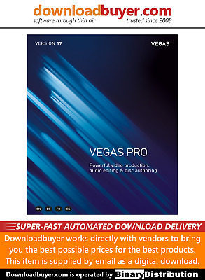 Magix Vegas Pro 17 - For PC - (Approved Digital Download) • 374.99£