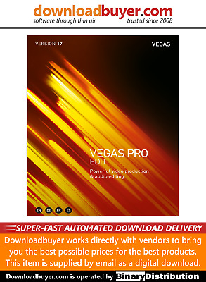 Magix Vegas Pro 17 Edit - For PC - (Approved Digital Download) • 224.99£