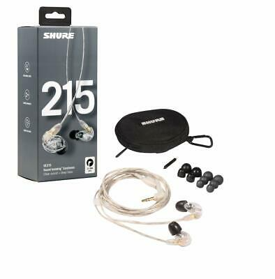 Shure SE215-CL-EFS CLEAR Sound Isolating Deep Bass Professional Earphones / NEW • 119.99£