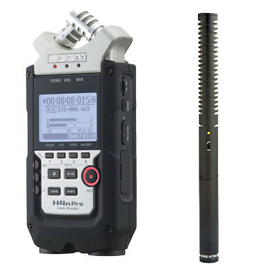 Zoom H4n Pro 4-Channel Handy Recorder W/ Rode NTG2 Shotgun Microphone • 336.25£