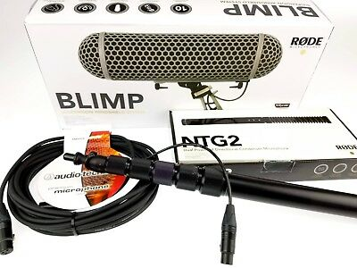 Location Sound Package Rode NTG-2, Blimp, Boompole, And Cable • 364.18£