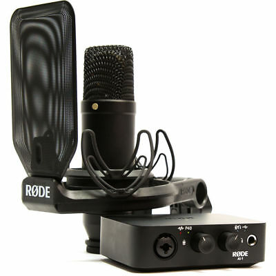 Rode Complete Studio Kit With AI-1 Audio Interface, NT1 Microphone, SMR & Cables • 267.89£