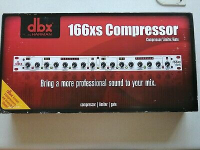 Dbx 166xs Professional Audio Compressor/Limiter/Gate Dynamic Processor • 150.91£