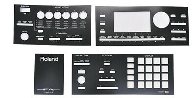 ROLAND Japan Synthesizer Overlay Sheet FA-06 FA-07/FA-08 Replacement Repair • 25.35£
