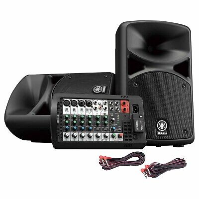 Yamaha StagePas 400BT Portable Bluetooth PA Speaker Mixer System W Reverb FXs • 589.05£
