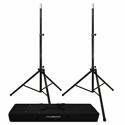 Ultimate Support TS-88B Black Tripod Speaker Stands (2PK) + BAG-90D Tote Bag • 214.61£