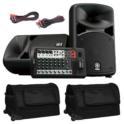 Yamaha STAGEPAS 600BT Portable Bluetooth DJ PA Speaker System W Covers Package • 715.56£
